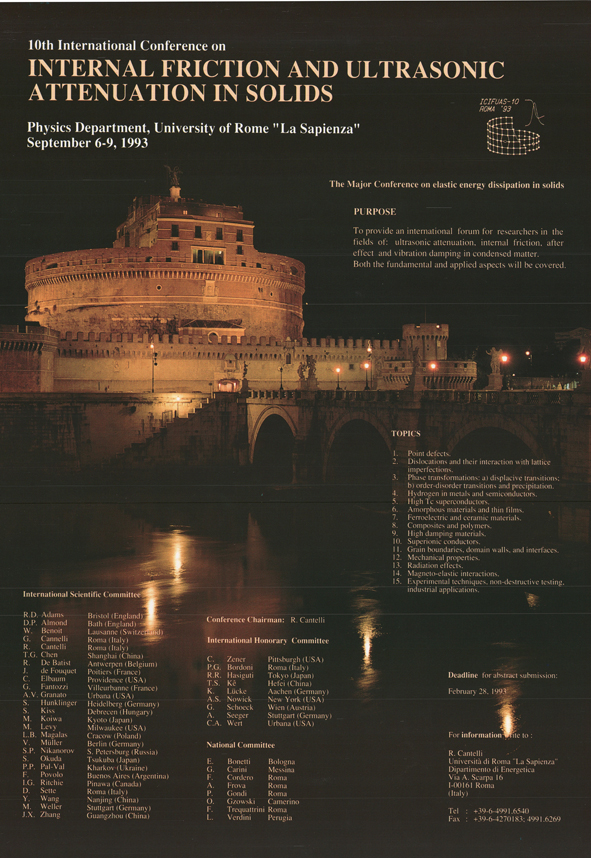 2. ROME CONFERENCE 1993 - ZENER GOLD MEDAL AWARDS - HISTORICAL REVIEWS